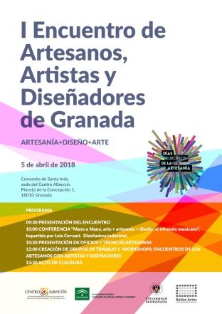 cartel I Encuentro Artesanos y diseñadores